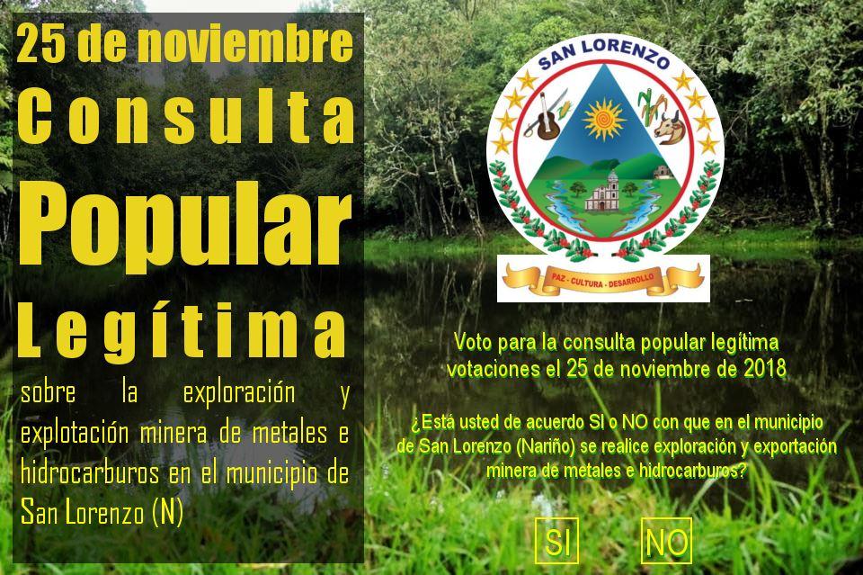 Convocatoria a la Consulta Popular realizada por el municipio de San Lorenzo / Imagen: Municipio de San Lorenzo